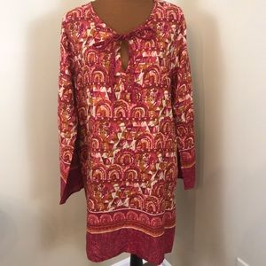 NWT Rock flower paper tunic size XL